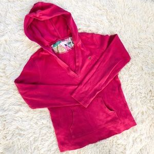 Lilly Pulitzer V-Neck Pink Hoodie